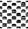 hamburgers types fast food icons seamless pattern vector image