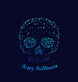 happy halloween poster with skull vector image vector image