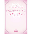 Happy Valentines Day Card with ornament hearts f vector image