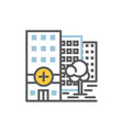 hospital building icon flat and line vector image vector image