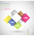 Infographic colorful cubes for data presentation vector image vector image