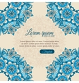 Invitation template vintage flowers lace ornament vector image