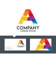 letter a - logo design vector image
