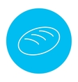 Loaf line icon vector image vector image