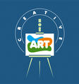 logo creative easel for art vector image