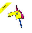 magic colorful bright unicorn sticker vector image vector image