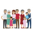 multi-generation family colourful photo on white vector image vector image