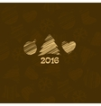 New year card with tree vector image vector image