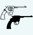 Old pistol vector image vector image