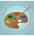 On isolated paint brush and backgroun