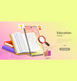 online education concept landing page template vector image