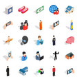 pair icons set isometric style vector image