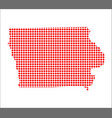 red dot map of iowa vector image