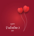 red valentines day background composition vector image vector image