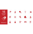 research icons vector image vector image