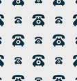 Retro telephone handset icon sign Seamless pattern