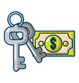 safe money icon cartoon style vector image