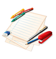 School materials vector image