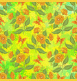 seamless pattern flowers and butterflies vector image vector image