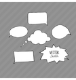 Set of blank speech bubbles with space for text vector image