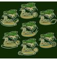 set of boars sports vintage labels vector image vector image