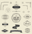 set of retro vintage linear thin line art deco vector image vector image