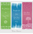 Set of winter and christmas banners vector image vector image