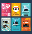 set sale and discount flyers for social media vector image