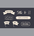 set vintage graphic design elements linear vector image vector image