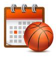 sport calendar vector image vector image