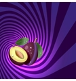 Striped spiral plum confectioners background vector image vector image