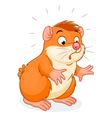 Surprised hamster vector image vector image