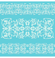 swirling decorative pattern ornament blue vector image vector image