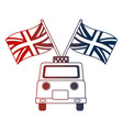 taxi service with english flags vector image
