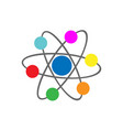 the atoms molecule icon vector image