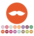 The moustache icon Whisker symbol Flat vector image
