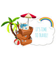 travel icon on white background vector image vector image
