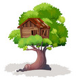 treehouse on tree vector image
