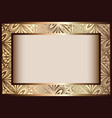 vintage gold rectangle frame vector image vector image