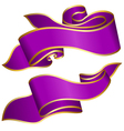 Violet ribbon collection isolated on white backgro vector image