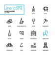winemaking - modern line design icons set vector image vector image