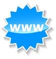 Www blue icon vector image vector image