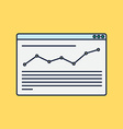 site of blog and infographics vector image