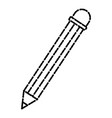 woden pencil isolated vector image