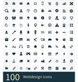 100 webdesign icons set vector image vector image