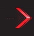 abstract red metallic arrow direction on dark grey vector image vector image