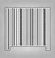bar code sign pencil sketch imitation vector image vector image