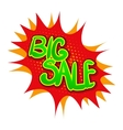 Big sale comics icon vector image vector image