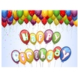 Birthday background with colorful vector image vector image