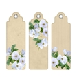 Bookmark with White Flowers vector image vector image